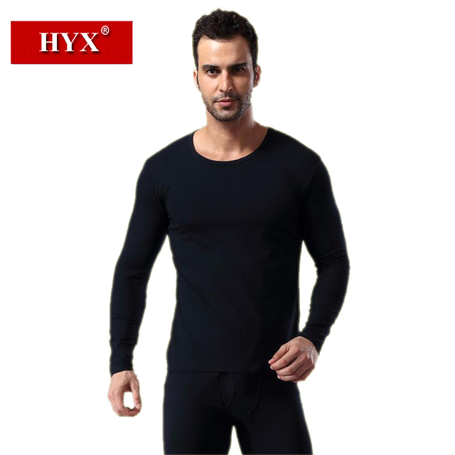 Heng Yuan Xiang Men Thermal Underwears One Set Cotton Men's Long Johns O neck Winter Thermal Underwears Clothing