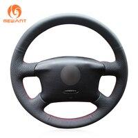Black Leather Steering Wheel Cover For Volkswagen Passat B5 VW Passat B5 VW Golf 4