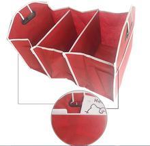Автомобиль хранения получать мешок авто автомобиля поставок назад складной ящик для хранения нескольких-Применение Инструменты органайзер для автомобиля Портативный Сумки для хранения Красный