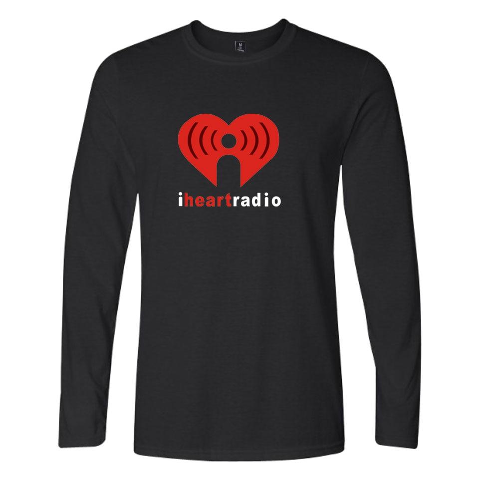 Tee Shirts O-Neck Loose I Heartradio T-shirts Cool And Fashion Style Long Sleeve Heart Print Plus Size 4XL Tops Tee Shirt