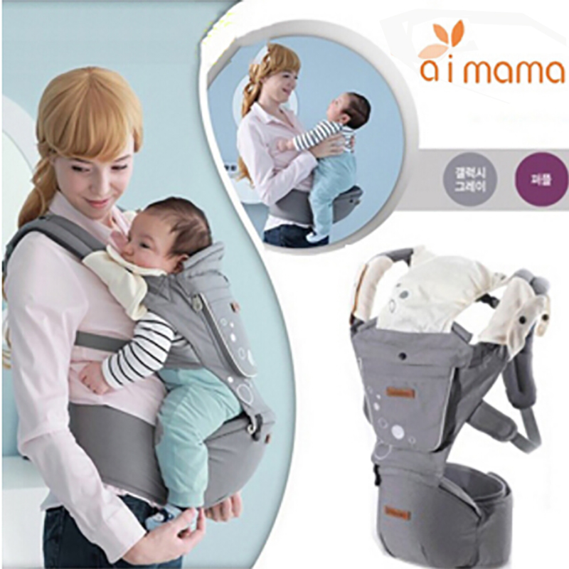 Aimama Multifunction Outdoor Kangaroo Baby Carrier Sling Backpack New Born Baby Carriage Hipseat Sling Wrap Summer and Winter 0 36 months multifunction outdoor kangaroo baby carrier sling backpack new born baby carriage hipseat sling manduca happybear