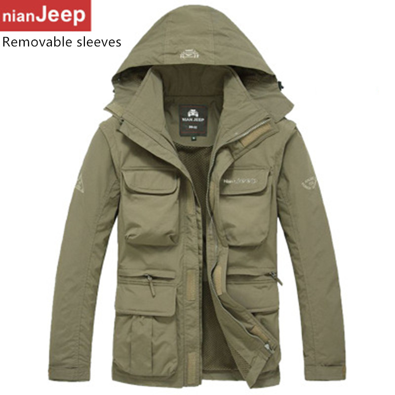 Free shipping nian Jeep speed drying men's casual windbreaker jacket coat Battlefield Jeep M-3XL