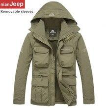 Бесплатная доставка нянь Джип скорость сушки мужчин случайных ветровка куртка пальто M-3XL Battlefield Jeep