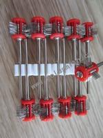 10 stks rode gemonteerd matt brush draad dia: 0.2mm, jewlery maken tools matt wire borstels, Jewlery borstel
