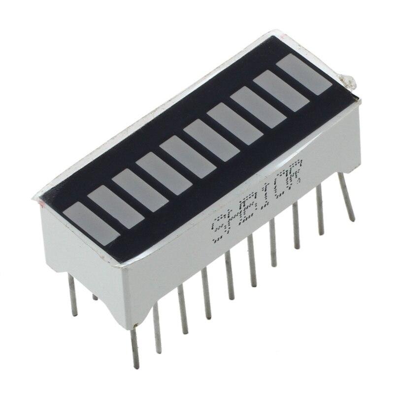 Barre de LED rouge 10 segments-affichage graphique