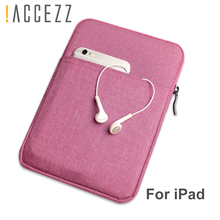 !ACCEZZ 7.9 inches Tablet Sleeve Bag  For iPad Mini 1 2 3 4 Cotton Zipper Protective Pouch Thick Case For ipad Mini Cover Fundas