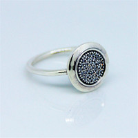 Signature Silver Ring 925 Sterling Silver With Clear Cz Rings For Women Fine Jewelry Free Shipping