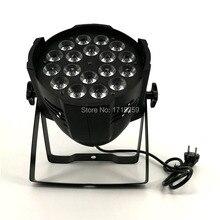 Алюминиевый сплав светодио дный LED Par 18×12 Вт RGBW 4светодио дный В1 LED Par может светодио дный Par 64 Светодиодный прожектор dj проектор стирка освещение сценическое освещение
