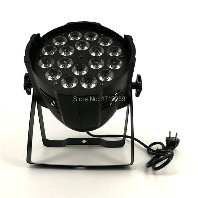 Liga de alumínio led par 18x12 w rgbw 4in1 led par pode par 64 led spotlight projetor dj wash iluminação iluminação de palco