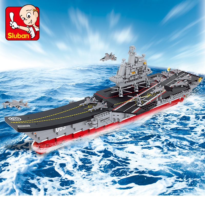 SLUBAN City Aircraft carrier Building Blocks Sets Bricks Model Kids girls gifts C Toys For Children Compatible Legoings kaygoo building blocks aircraft airplane ship bus tank police city military carrier 8 in 1 model kids toys best kids xmas gifts