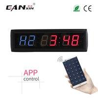 [GANXIN] 6 цифр светодиодный отсчет настенные часы интервал часы таймер тренировки тренажерный зал дома Crossfit таймер с приложением управления IOS