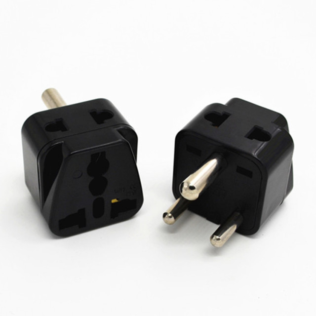 10pcs Lot Nepal India Sri Lanka Universal Travel Plug Adapter Au Us Eu To Small South Africa Adaptor Converter Connector