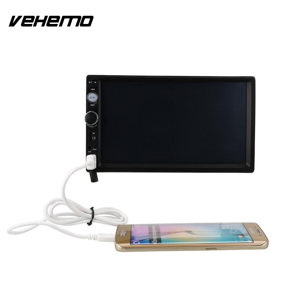 ФОТО 7 Inch Screen Car Stereo Radio 2 DIN MP5 Player USB/AUX/FM with Parking Camera