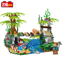 Qunlong Toys Mine World Suspension Bridge Model Building Blocks Compatible Legoe Minecrafted City Educational Toys For Kids