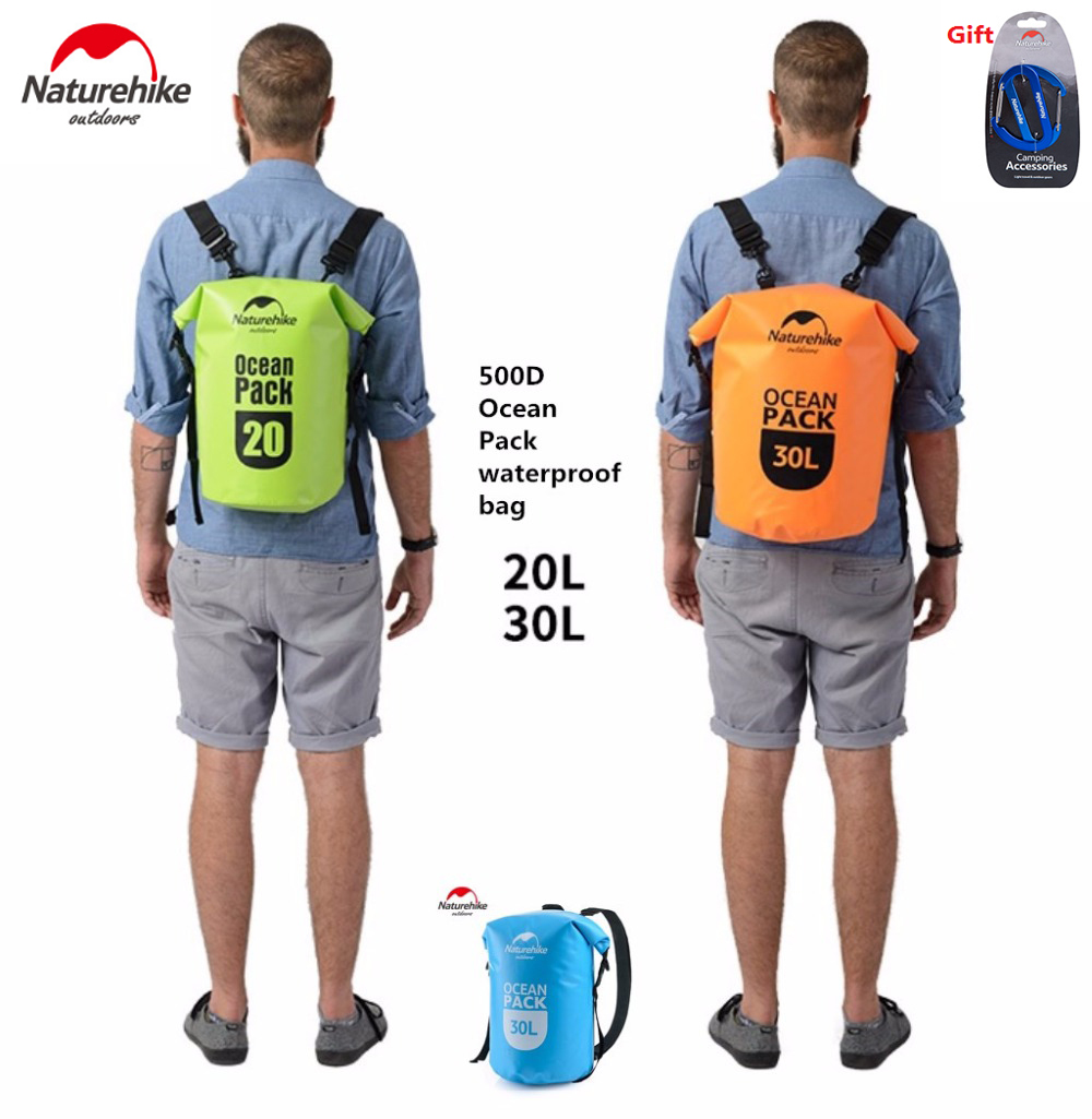 NatureHike Factory 500D Ocean pack waterproof bag Outdoor travel rafting bag Swimming beach camping foldable backpack water bag