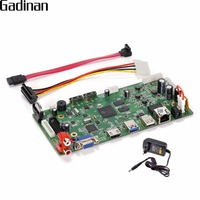GADINAN 16CH 4MP CCTV NVR Hi3798C Processor Security Network Recorder NVR Main Board Support Wifi 3G