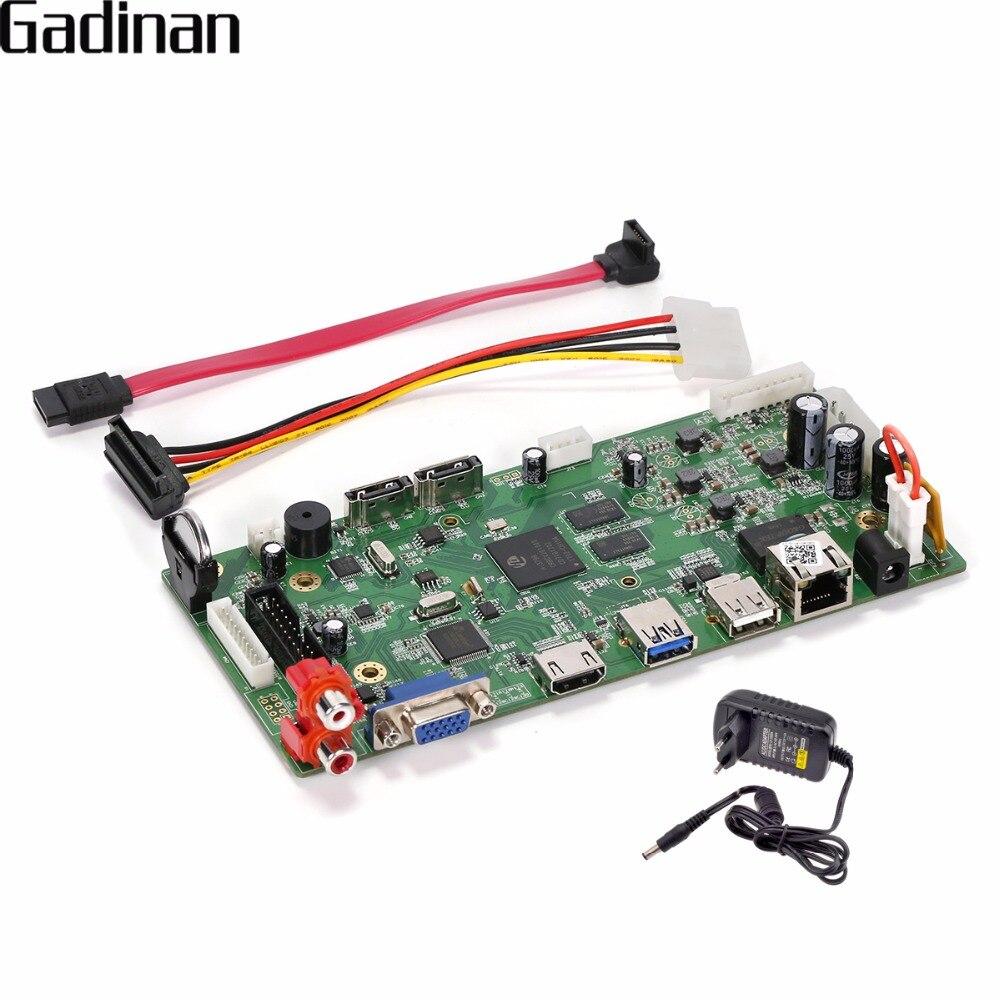 GADINAN 16CH 4MP CCTV NVR Hi3798C Processeur de Sécurité Réseau Enregistreur NVR Panneau Principal Soutien Wifi 3G RTSP 8ch 4 K/8ch 5 M/16ch 3 M