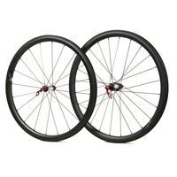 High End T700 Carbon Road Wheelset Super Great Performance 240 Wheelset Straight Pull Sapim CX Ray