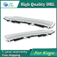 Free Shipping 12V 6000k LED DRL Daytime Running Light Case For Ford Kuga 2013 2014 Fog