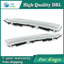 цены Free shipping !12V 6000k LED DRL Daytime running light case for Ford Kuga 2013 2014 fog lamp frame Fog light Car styling