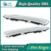 Free Shipping 12V 6000k LED DRL Daytime Running Light Case For Ford Kuga 2013 2014 Fog