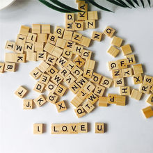 Здесь можно купить  100pcs Wooden English Letters Wood Crafts  Wedding Party Home Decoration   Festive & Party Supplies