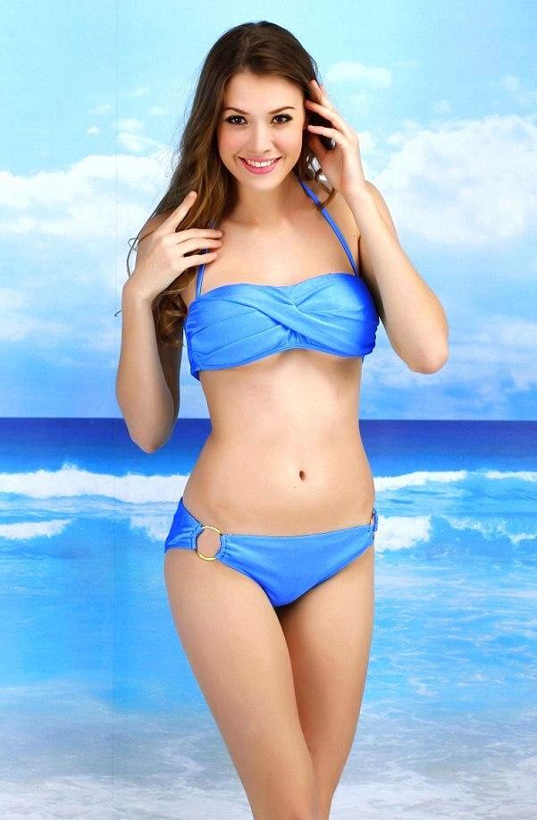 Fille Sexy En Maillot 2015 femmes push up sexy maillot de bain une pièce triangle bikini