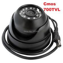 Envío libre ELP 1/3 CMOS 700TVL visión nocturna de seguridad CCTV cámara domo de Interior con 24 IR LED de Vigilancia de su casa