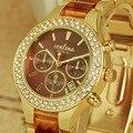 GINEBRA Mujeres Rhinestone de Lujo Relojes Moda Auto Fecha Reloj de Las Mujeres Relojes Señoras Reloj de Acero Llena Horas relogio Del Reloj feminino