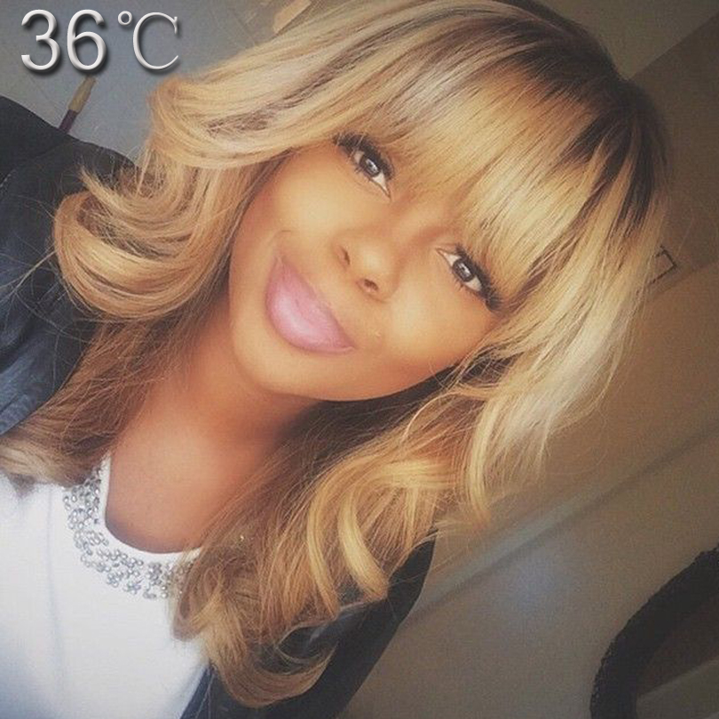 Best Human Hair Wigs With Bangs Ombre Human Hair Full Lace