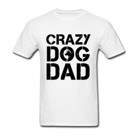 Cheap T Shirts Online Crazy Dog Dad Short Sleeve Father S Day Custom Couple Screen Printed