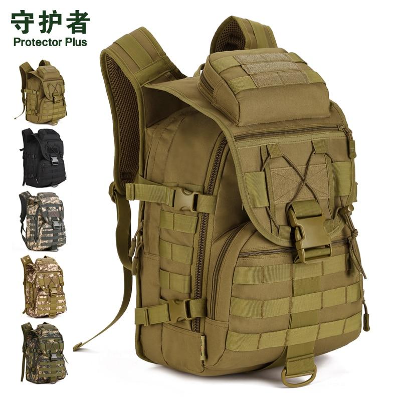 Prix pour Protector Plus S413 Sports de Plein Air Sac 40L Camouflage En Nylon Tactique Militaire Trekking Pack Randonnée Vélo Sac À Dos Voyage