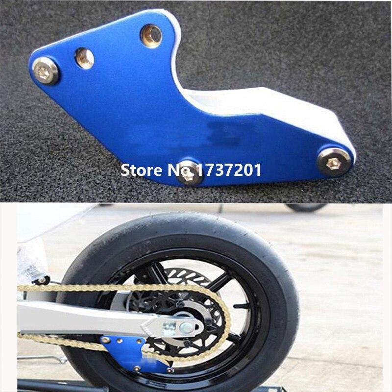 Azul novo estilo liga de corrente guarda guia protetor corrente rolo sujeira pit bicicletas xr crf 50 70 110 125 140 150 160cc