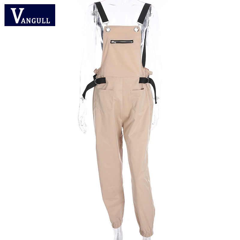 2019 primavera y verano ropa Casual de mujer sin mangas de hombro sin tirantes mono sólido suelto de encaje para mujer mono largo