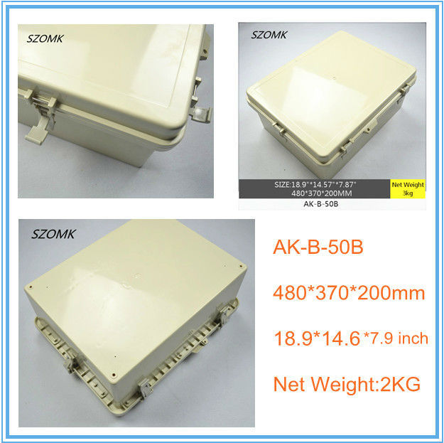 1 piece, big electrical instrument enclosure waterproof IP65 boxes 480*370*200mm plastic electronics enclosure 2015 new, boxes