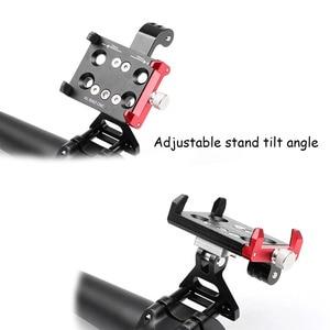Image 4 - JINSERTA CNC אלומיניום אופני אופניים Stand הר עבור Gopro 7 סוגר מתאם עם טלפון נייד מחזיק לgopro 6/5 Xiaomi יי