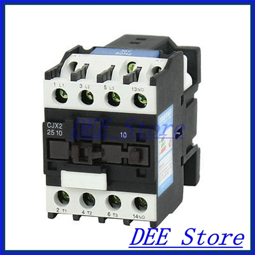 35mm DIN Rail Mounted 3P+1NO 36V Coil 25A AC Contactor CJX2-2510 35mm din rail mounted 3p 1no 380v coil 25a ac contactor cjx2 2510