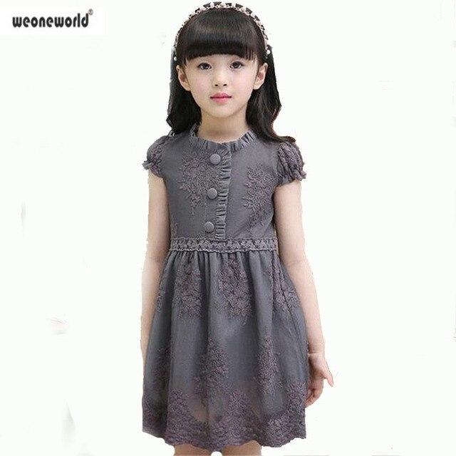 efbe8918ca200 US $14.57 19% OFF|WEONEWORLD Girls Dress 2018 Summer Children Clothing  Short Sleeve Knitting Mesh Design Princess Dress Kids Clothes Costumes-in  ...