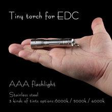 Convoy mini LED Flashlight, EDC flashlight ,CREE XPE R3 Light Led by AAA Battery