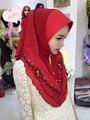 TJ31 Embroidery high quality  muslim hijab scarf new style  fashion beautiful muslim women  pashmina hijab