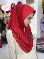 Tj31 вышивка высокое качество мусульманского хиджаба Новый стиль мода красивая мусульманских женщин пашмины хиджаб