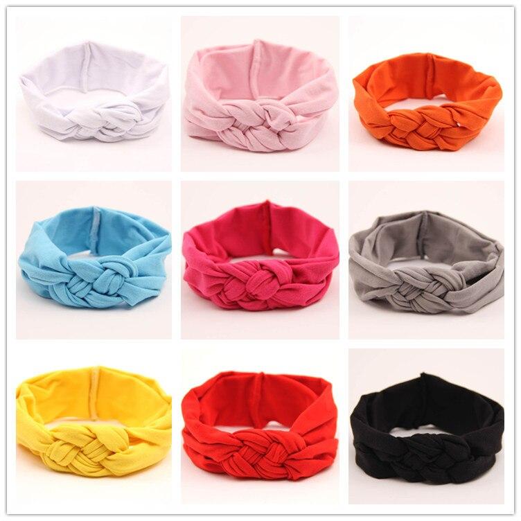 Потрясающие модные повязка хлопка узел повязка на голову обернуть голову кос Тюрбан повязка аксессуары для волос 9 видов цветов - Цвет: Многоцветный