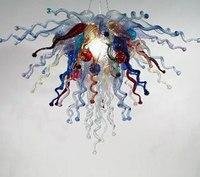 Новый дизайн DIY выдувное стекло LED люстра бесплатная доставка