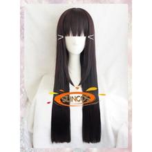 SUNCOS  Love Live LoveLive Sunshine Kurosawa Dia  Black Brown longer 80cm 32″ cosplay wig Heat resistance fibre+Cap