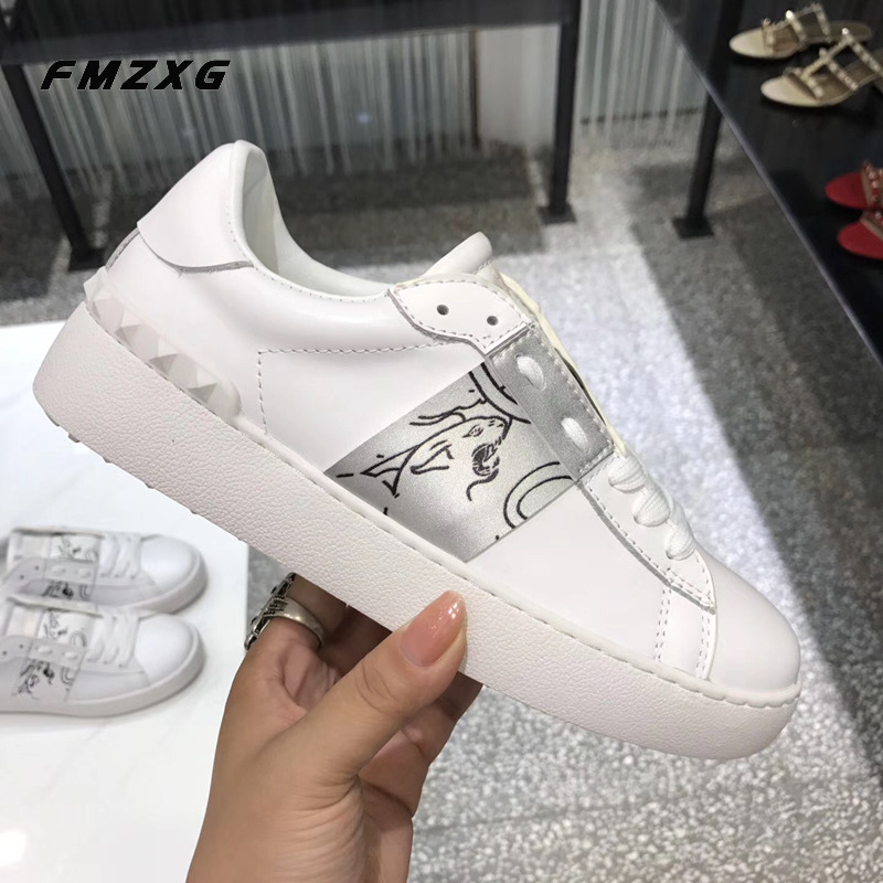 Women Genuine Leather Flats Shoes Flat Shoes Woman Zapatos Mujer Sneakers Fenty Beauty Loafers Shoes Woman Luxury Brand Shoes штатив monopod z07 5 bluetooth black for selfie