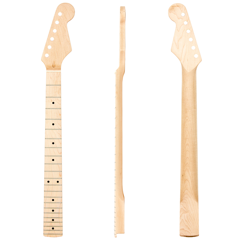 2Pcs Maple Guitar Neck 22 Fret for Electric Guitar Replacement Parts 2pcs electric guitar neck maple 22 fret left hand for fender strat replacement