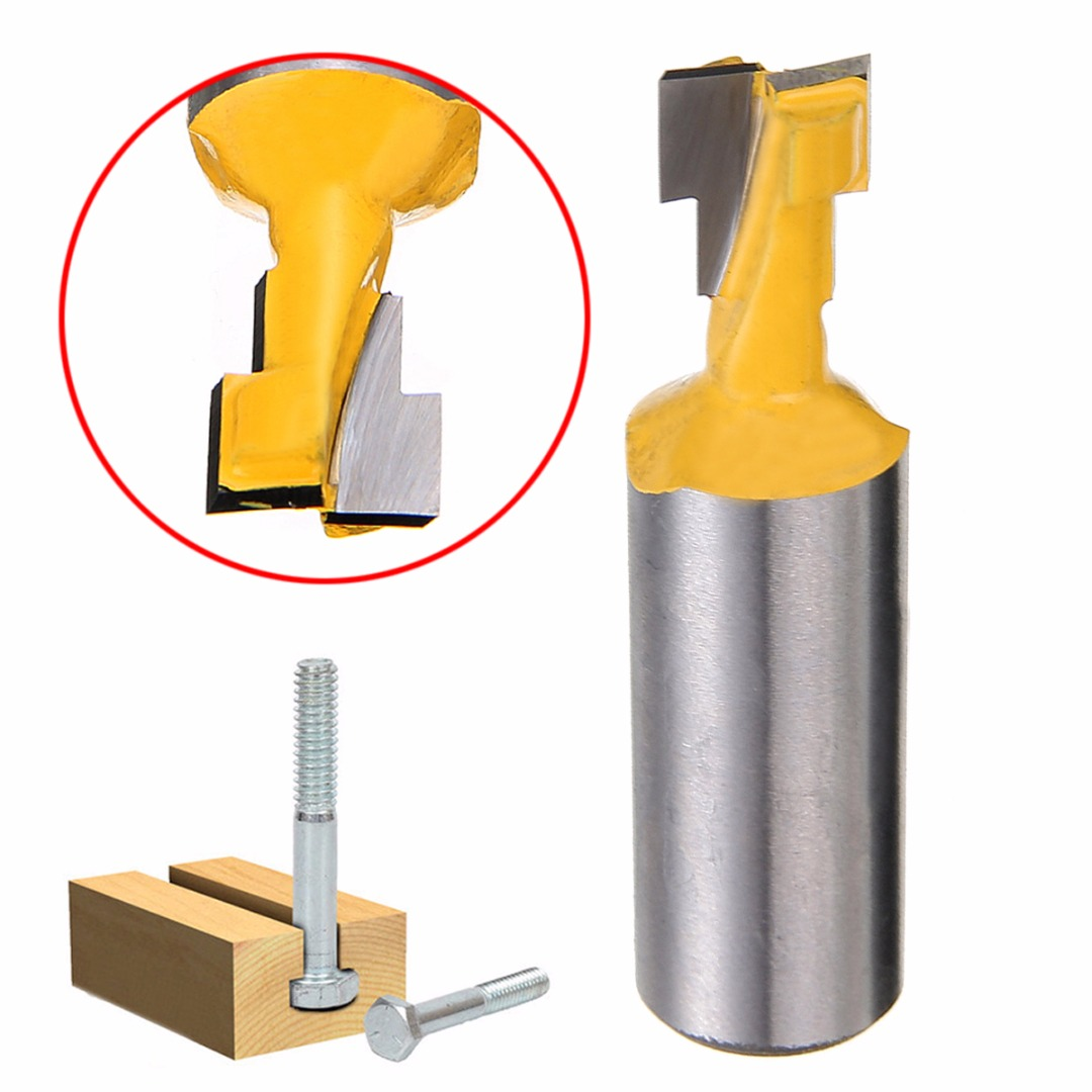 1//2/'/' T-Slot Cutter 1//2/'/' Shank Steel Handle Milling Router Bit For Woodworking