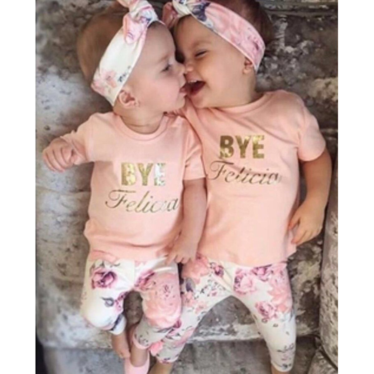 42651a61c89b 3pcs Baby Girls Kids Floral Clothing Set Casual Short Sleeve t Shirt tops  Rose Print Pants Hair Band Toddler Infant Toddler Suit