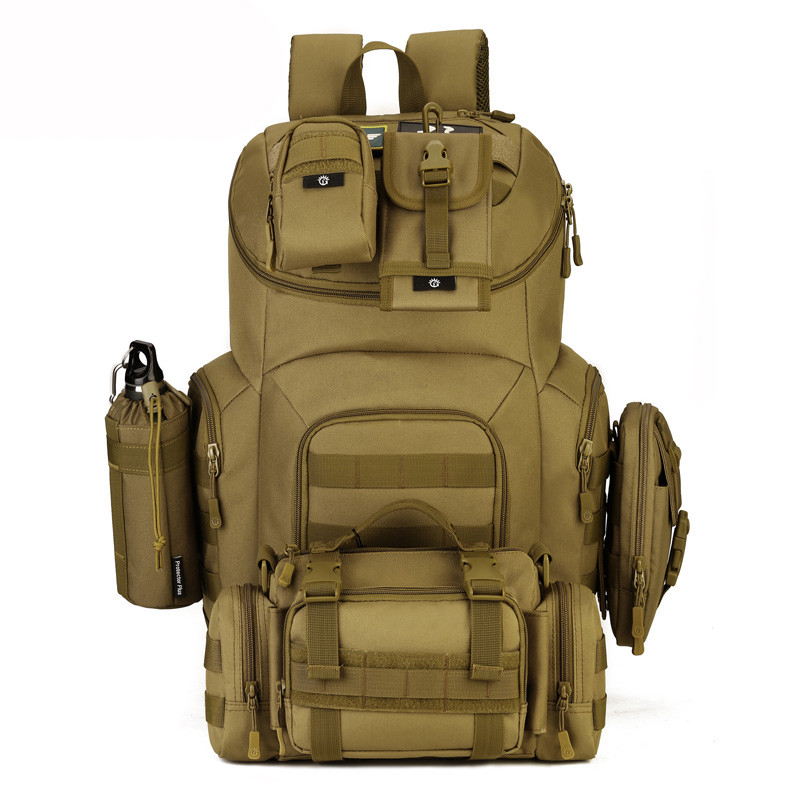 40L Military Tactical Assault Pack Backpack Molle Waterproof Bug Out Bag Rucksack for Outdoor Hiking Camping Hunting X66 tactical backpack rucksack bag assault pack daypack waterproof hiking camping sport bag military knapsack packsack for camping