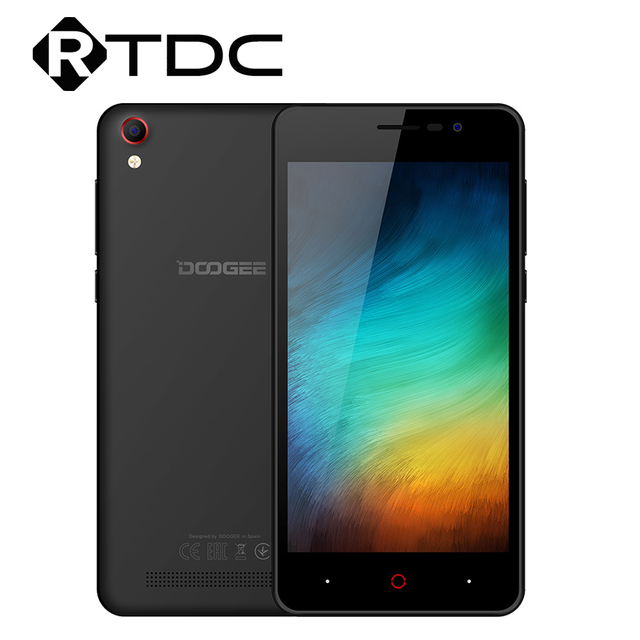Doogee X100 MTK6580 Quad Core Android 8.1 1GB RAM 8GB ROM 3G WCDMA 5.0MP Smartphone double SIM 4000mAh GPS 5.0 pouces téléphone Mobile